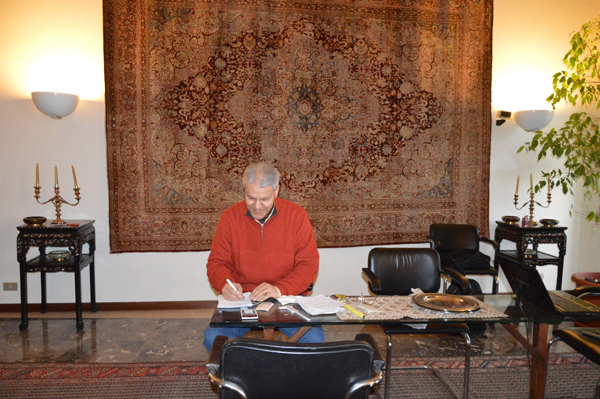 How did you develop your knowledge of oriental rugs and the language of their symbols?